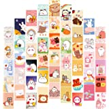 FOLDEP 50PCS Kawaii Wall Collage Kit Teen Girls Room Décor Pastel Pictures for Aesthetic Poster Wall Art Bedroom Soft Colors