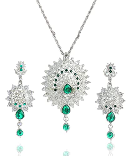 Buy Touchstone white tone Indian bollywood Victorian green faux
