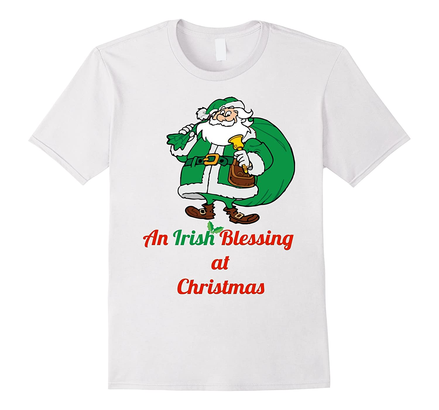 Irish Santa Blessing Christmas t-shirt Ireland Santa tee-CL – Colamaga