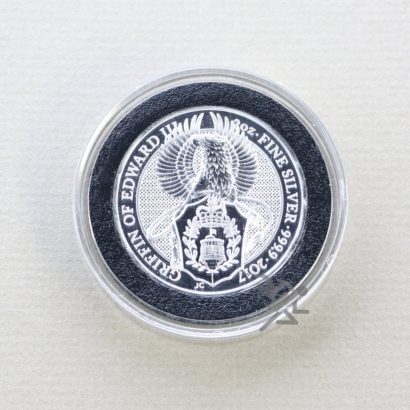Air-Tite High Relief 38mm Black Ring Coin Capsules for 2oz Queens Beast 3 Pack