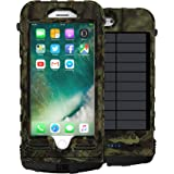 SnowLizard SLXtreme iPhone 8 Plus Case. Solar Powered, Rugged and Waterproof with a built in Battery – Mossy Oak.  Also works with iPhone 7 Plus.