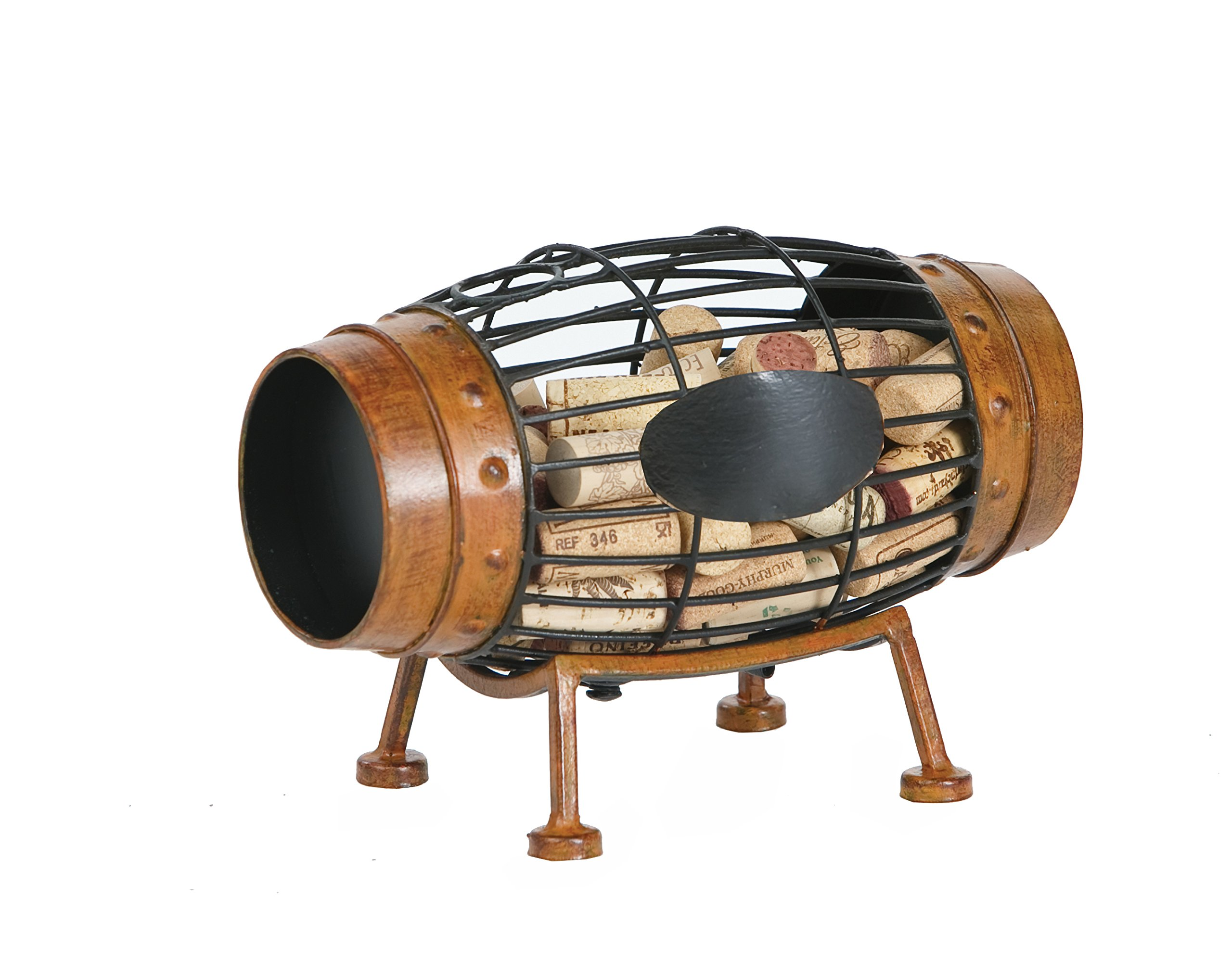 Cork Caddy Displays And Stores Wine Corks by Picnic Plus (Wine Barrel) by Picnic Plus