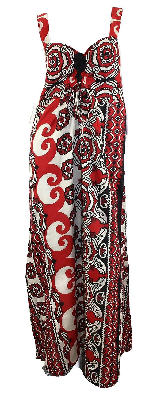 citydress24 #4228 Damen Kleid Maxikleid lang Sommerkleid Patchwork Übergrösse XXL große Größen 40 42 44 46 48 50 52 Schwarz