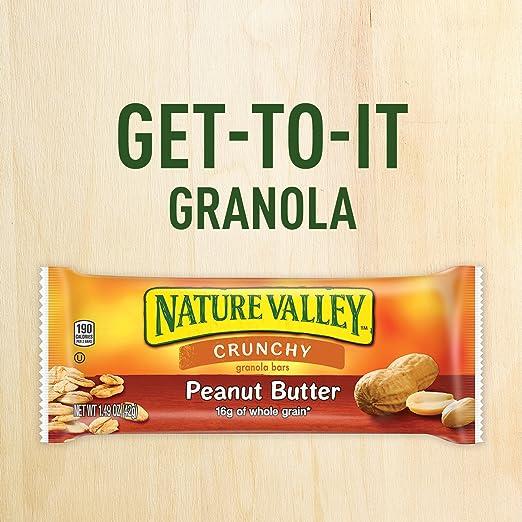 Amazon.com: Nature Valley Granola Bars, Crunchy, Peanut ...