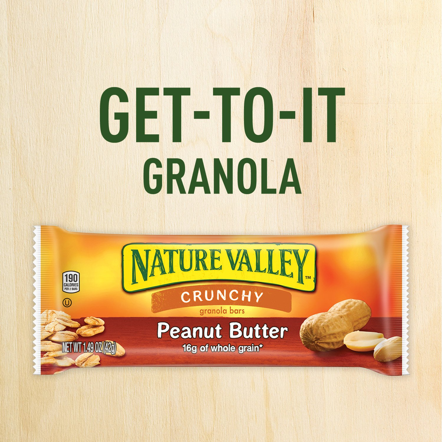 Nature Valley Granola Bars, Crunchy, Peanut Butter, 6 Pouches - 1.49 oz, 2-Bars Per Pouch (Pack of 6) by Nature Valley (Image #5)