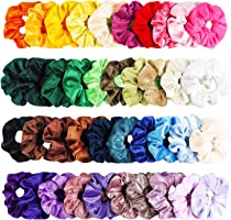 WATINC 40Pcs Velvet Hair Scrunchies, Strong Hold Bobbles Velvet Hair Ties, Elastics Bands Velvet Ponytail Holder,...