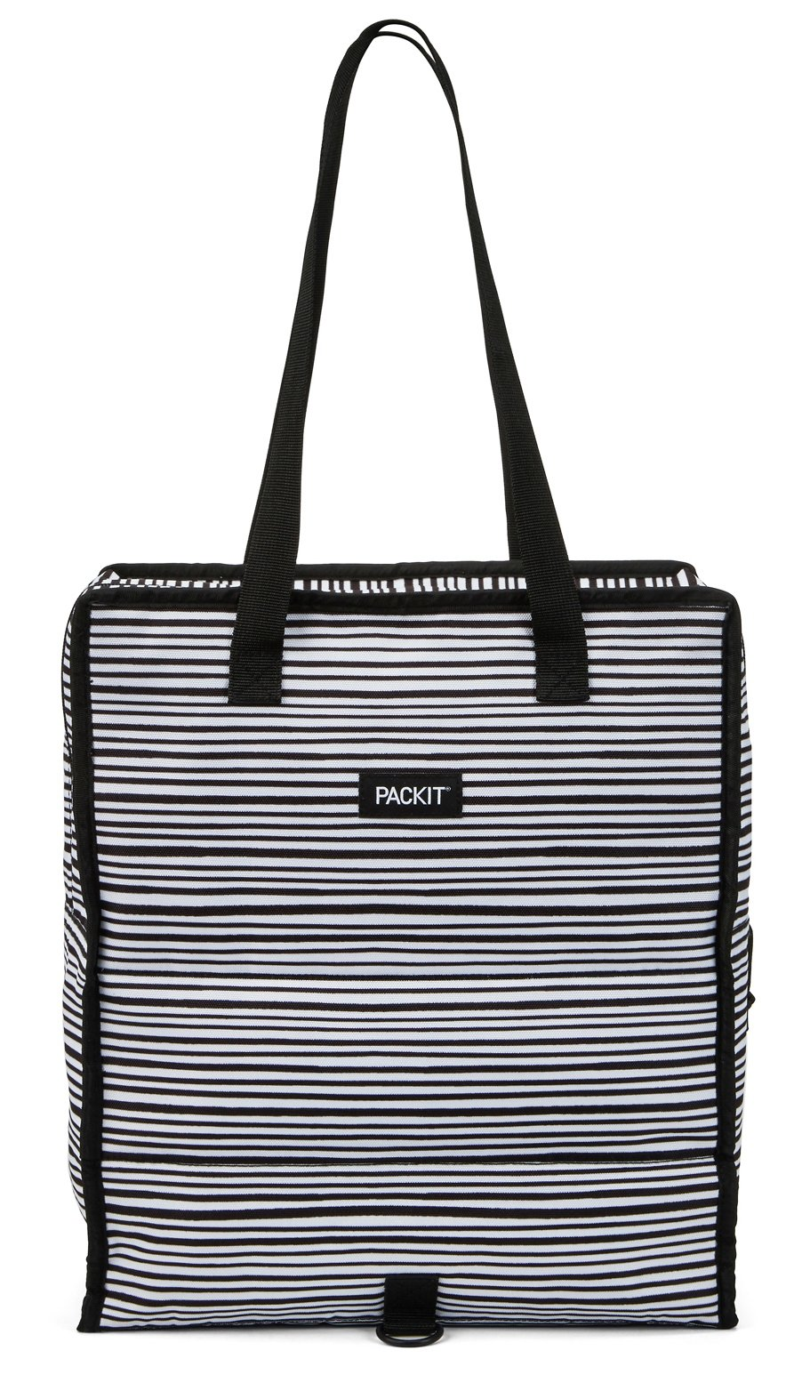 PackIt Freezable Grocery Shopping Bag with Zip Closure, Wobbly Stripes by PackIt (Image #2)