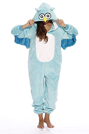 0dc8fb520a1f Amazon.com  Just Love Owl Adult Onesie Pajamas  Clothing
