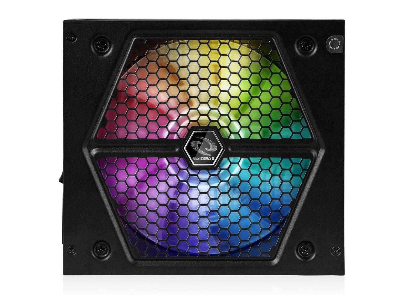 RAIDMAX RX-735AP-R 80 Plus Bronze Authentication Semi Plug-in Type 4 Pin RGB Header Compatible Thunder RGB 735 W Rx, 735Ap, R