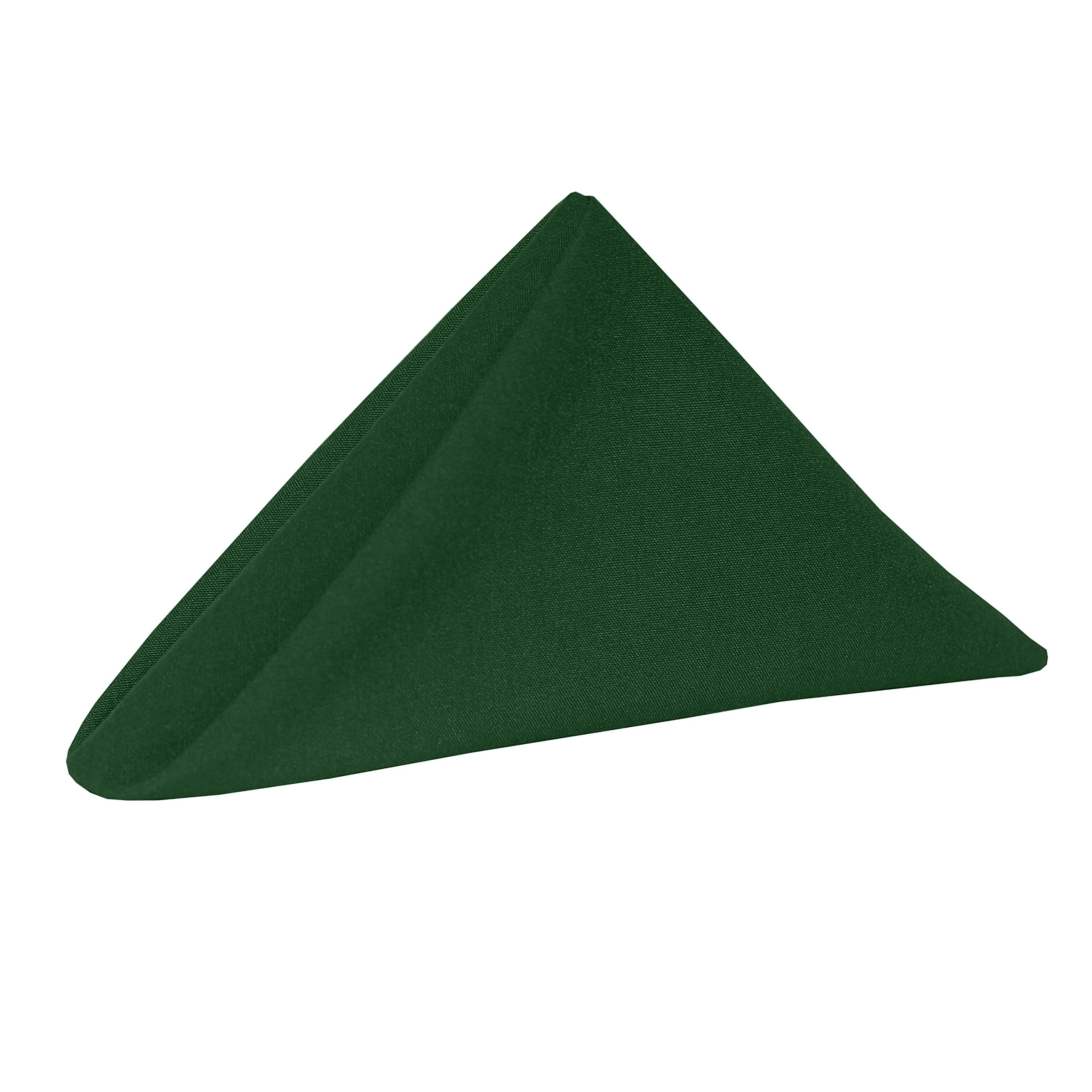 Ultimate Textile (10 Dozen) Cotton-feel Spun Polyester 17 x 17-Inch Cloth Napkins - for Wedding and Banquet, Hotel or Home Fine Dining use, Hunter Green