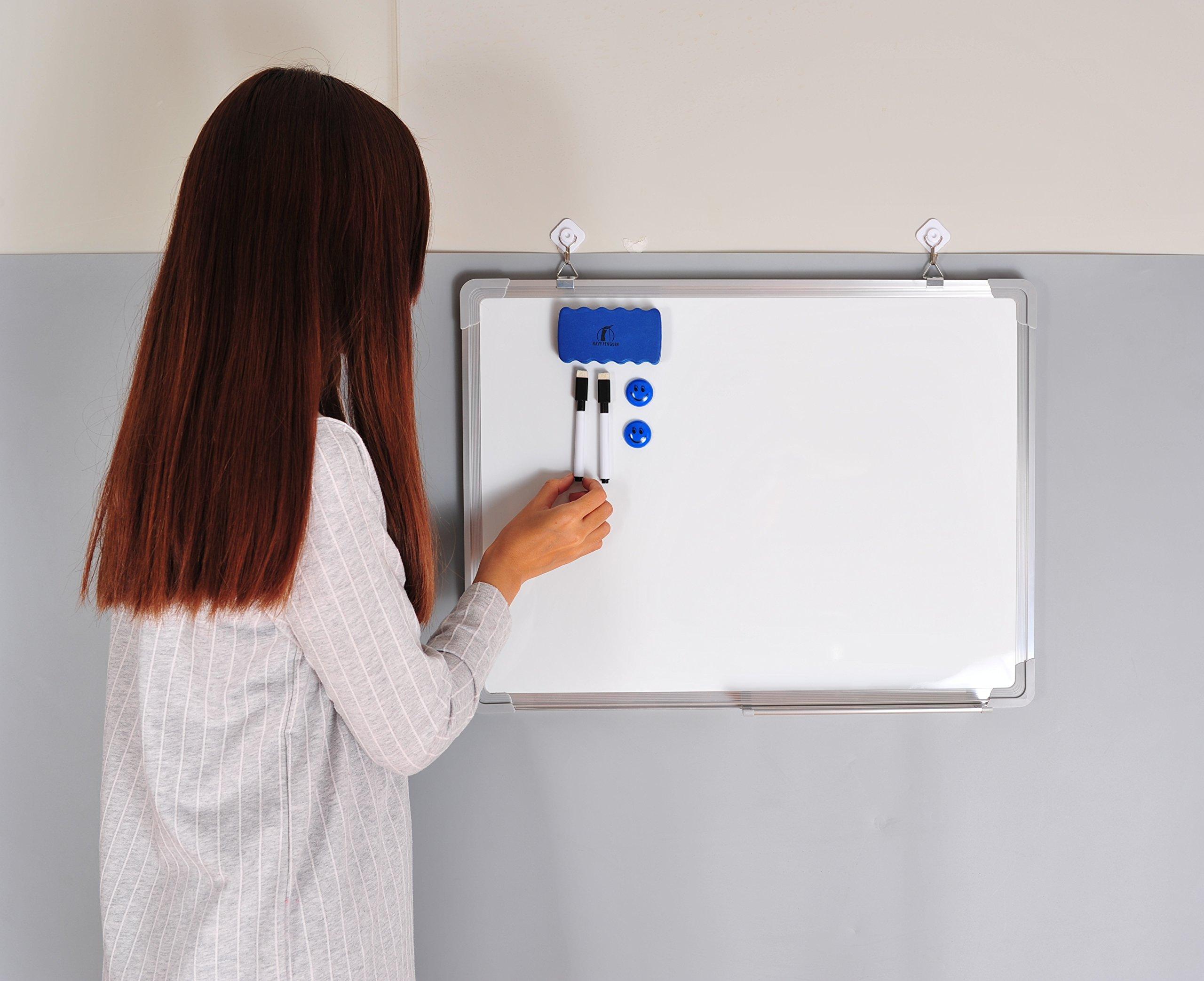 Whiteboard Set - Dry Erase Board 24 x 18 + 1 Magnetic Dry Eraser, 2 ...