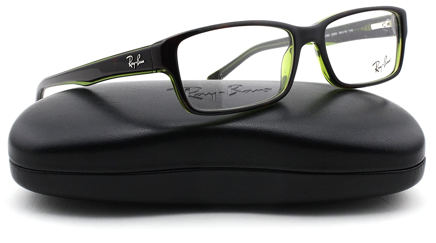 116595c3e0 Amazon.com  Ray-Ban RX5169 Square Unisex Eyeglasses (Havana on Green  Transparent 2383