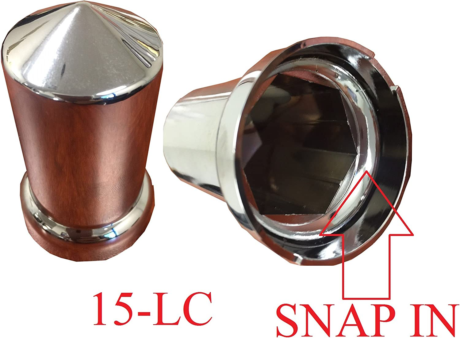 ZXLY Brand A Set of 60PCS Chrome ABS Lug NUT Cover for 33MM for Lug NUT for HUBCAP