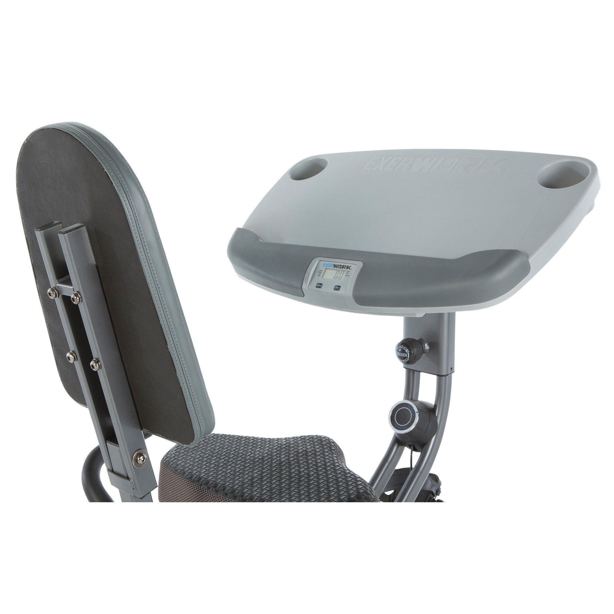 Exerpeutic ExerWorK 1000 Fully Adjustable Desk Folding Exercise Bike with Pulse by Exerpeutic (Image #10)