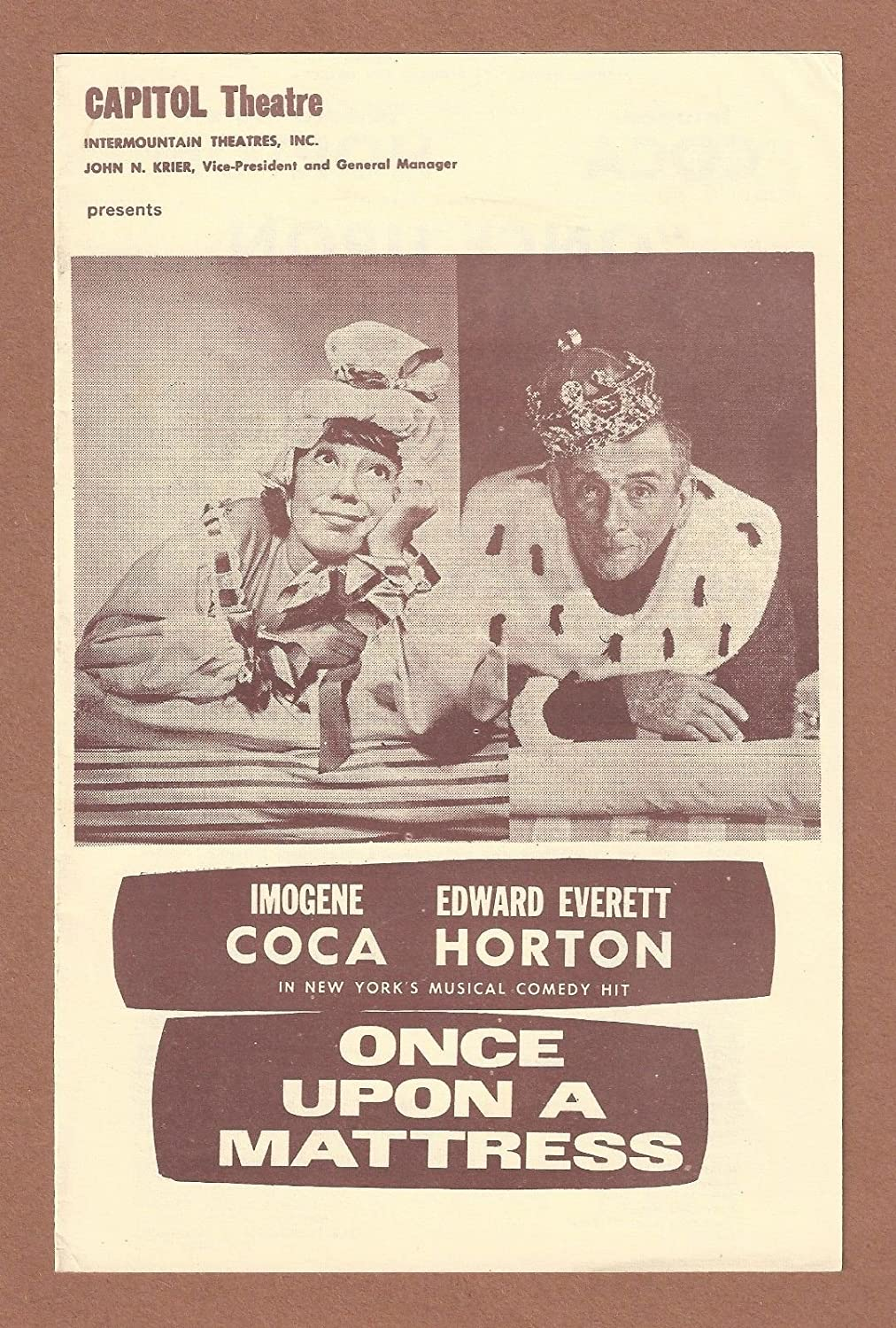 once upon a mattress broadway poster. Imogene Coca \ Once Upon A Mattress Broadway Poster