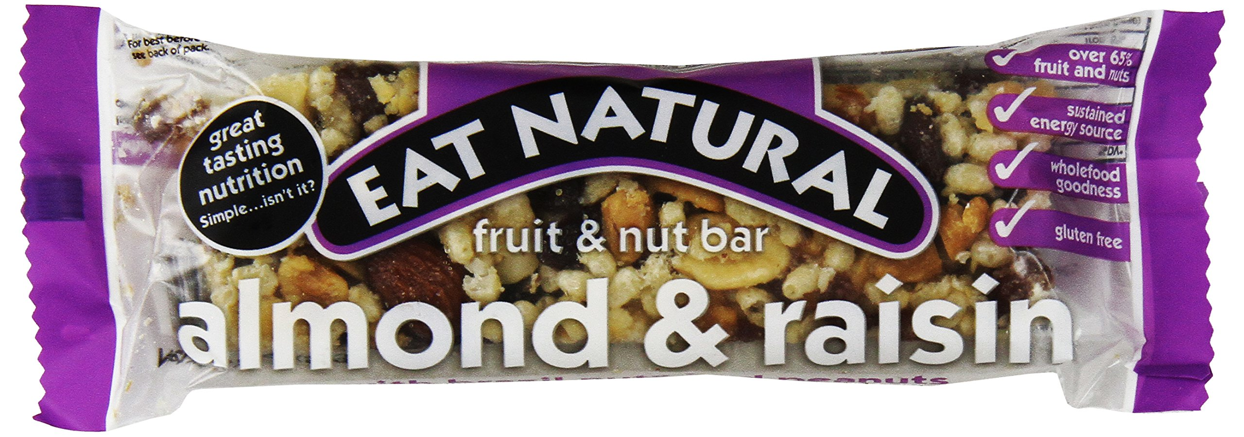 Eat Natural Bars: Almond & Raisin with Brazil Nuts & Peanuts, 1.76-Ounce, 12-Count Boxes