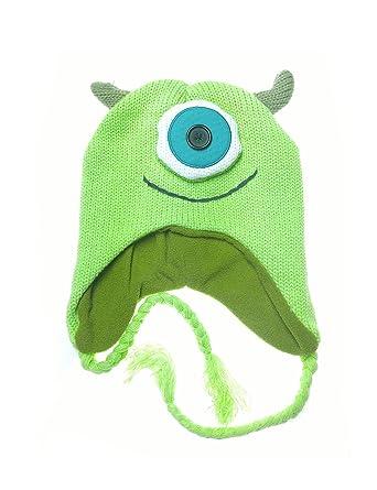 b1cc7b310b871 Amazon.com  Monsters Inc Mike Sipowski Knit Laplander Beanie Hat  Clothing