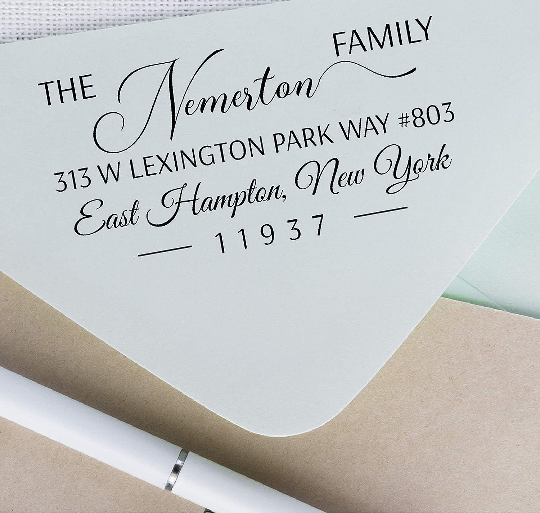 Return Address Stamp Family Large Return Address Stamp 3.0 X 1.5 Self Inking Address Stamp Custom