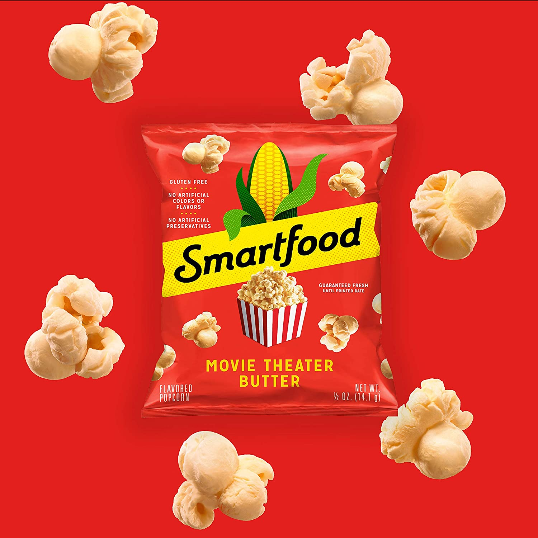 Amazon Com Smartfood Popcorn 3 Flavor Variety Pack 0 5oz Single Serve Bags 18 Pack Prime Pantry