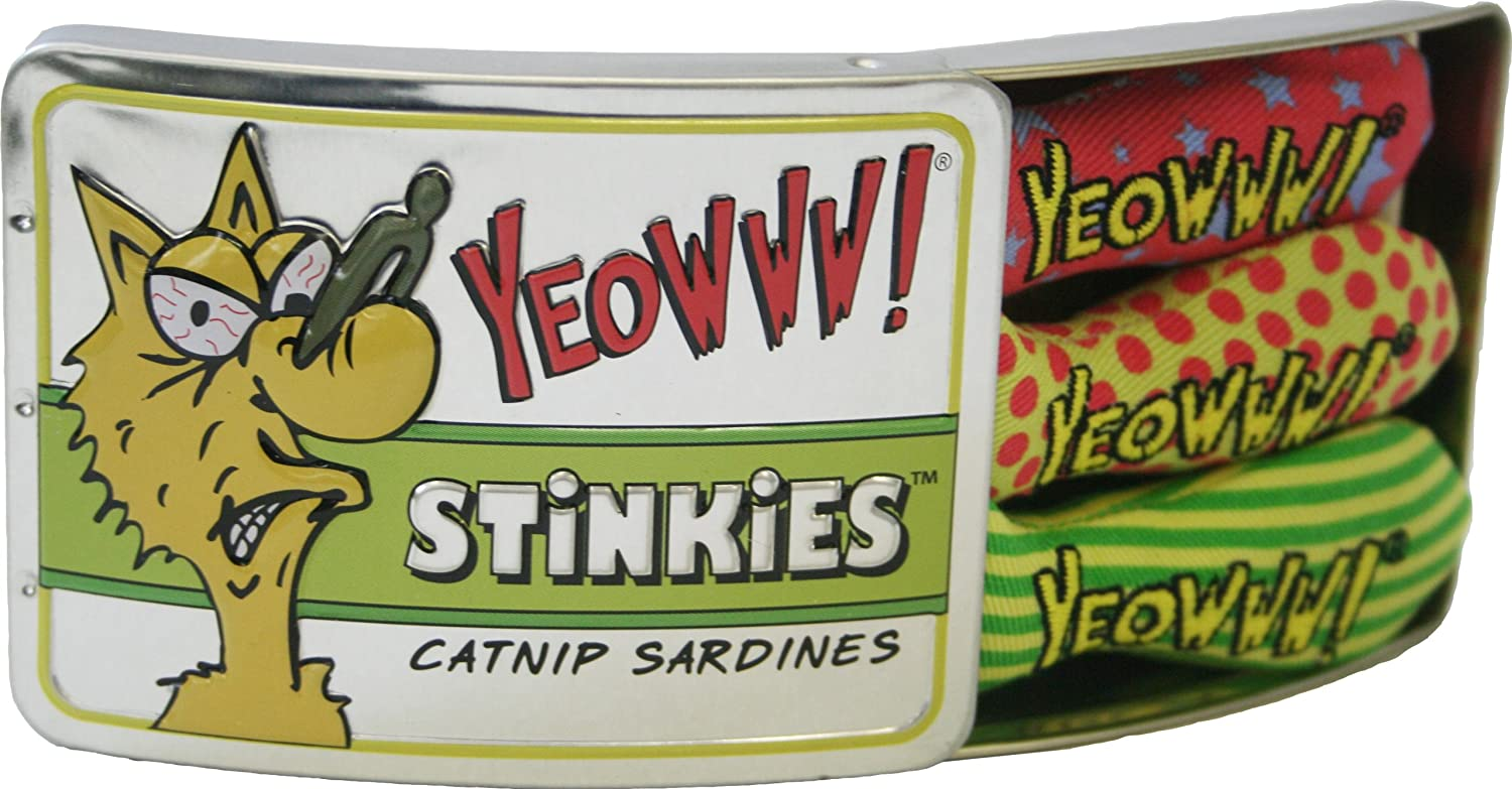 Yeowww! Tin of Stinkies, 3 in a Sardine Tin, Multicolor, 1Pack