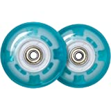 Deluxe Caster Board Replacement Wheels with Illuminating Lights, Will Make Any Board Look Awesome and Exciting, Bearings Included, Set of Two