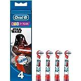 Oral-B Kids Cabezales de Recambio con Los Personajes de Star Wars,  Apto para Niños Mayores de 3 Años, Pack de 4 Unidades