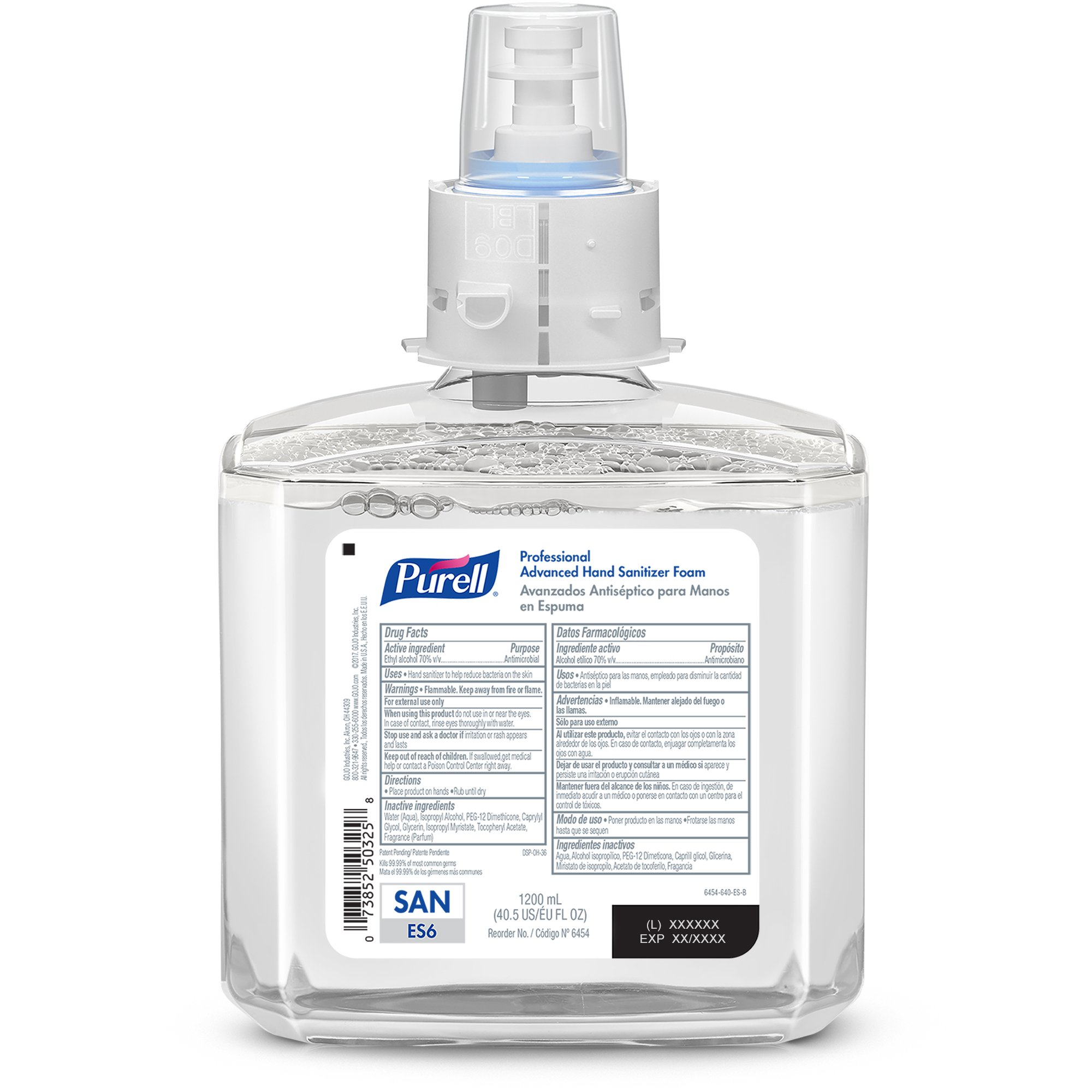 PURELL Professional Advanced Hand Sanitizer Foam Refill, 1200mL Refill for ES6 Hand Sanitizer Dispenser - by Purell (Image #2)