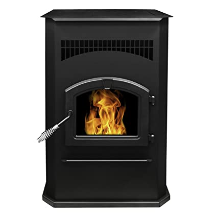 Pleasant Hearth PH50CABPS Cabinet Style 50000 BTUu0027s Pellet Stove With  120 Pound Hopper