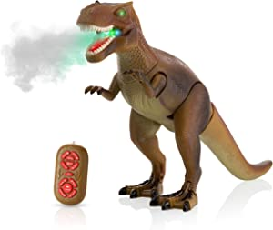 Advanced Play Dinosaur Trex Toy Realistic Walking Tyrannosaurus Rex Multifunction RC Trex Toy Figure with Roaring Spraying Function Good Dinosaur Toys for Boys Girls Ages 3+