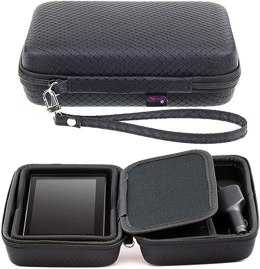 Noir /Étui de transport rigide pour Garmin nuvicam lmt-d lmthd 15,2/cm GPS Sat Nav Dash Cam avec rangement pour accessoires et cordon