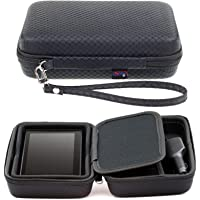 Digicharge Black Hard Carrying Case for Garmin Drive DriveSmart 65 60LM 60LMT 61LMT-S 61LM RV 660LMT Nuvi 68 67 68LM 67LM 2639LMT 2639 Fleet 670 660 GPS Sat Nav with Accessory Storage and Lanyard