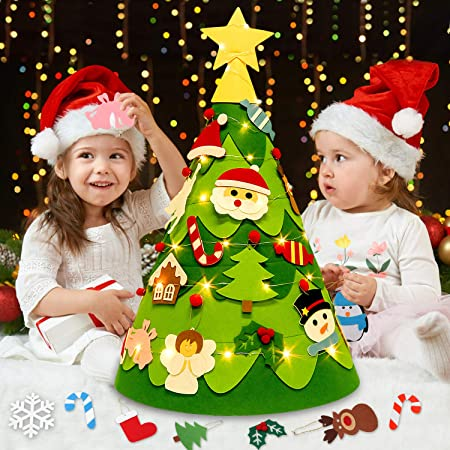 Albero Di Natale Regali.Outgeek Albero Di Feltro Di Natale Albero Di Feltro Di Natale Fai Da Te 3d Per