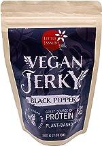 Little Jasmine Vegan Jerky Floss, Black Pepper Flavor, Plant Based Protein,