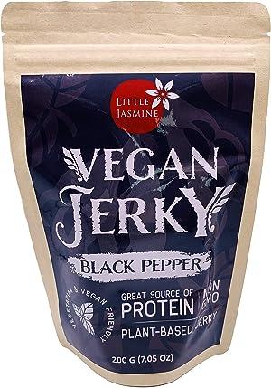 Little Jasmine Vegan Jerky Floss, Black Pepper Flavor, Plant Based Protein, Vegetarian Food, 7c.05 oz
