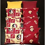 Durable 12 Ounce Bean Bags Set of 8 Cornhole Florida State Seminoles