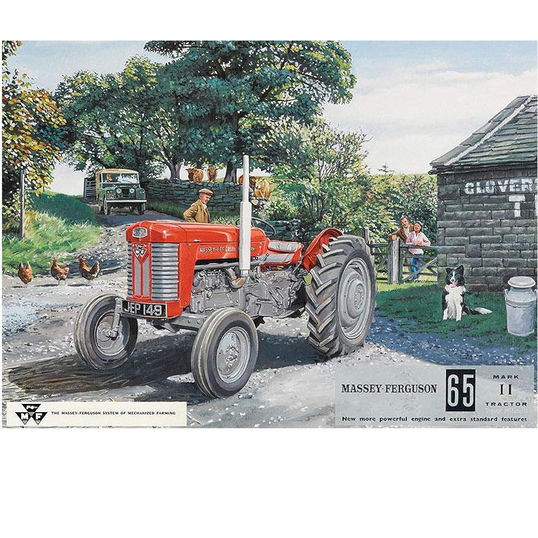 Massey Ferguson 65 - Rojo tractor en el farm, oveja perro y ...