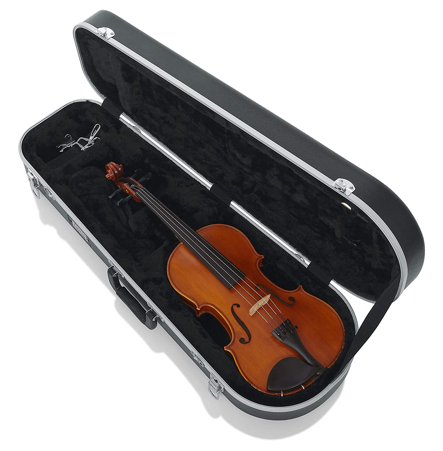Gator Cases Lightweight Molded Violin Case with Locking Latch and Storage Compartment; Full Sized (GC-VIOLIN-4/4)