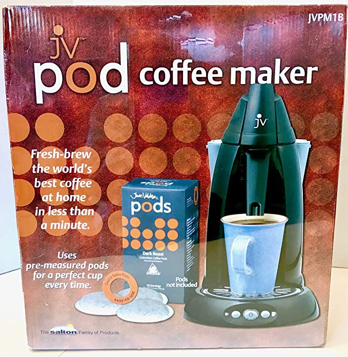 Amazon.com: Juan Valdez JVPM1W Pod Coffee Brewing System with Iced Tea Spout, Black: Single Serve Brewing Machines: Kitchen & Dining