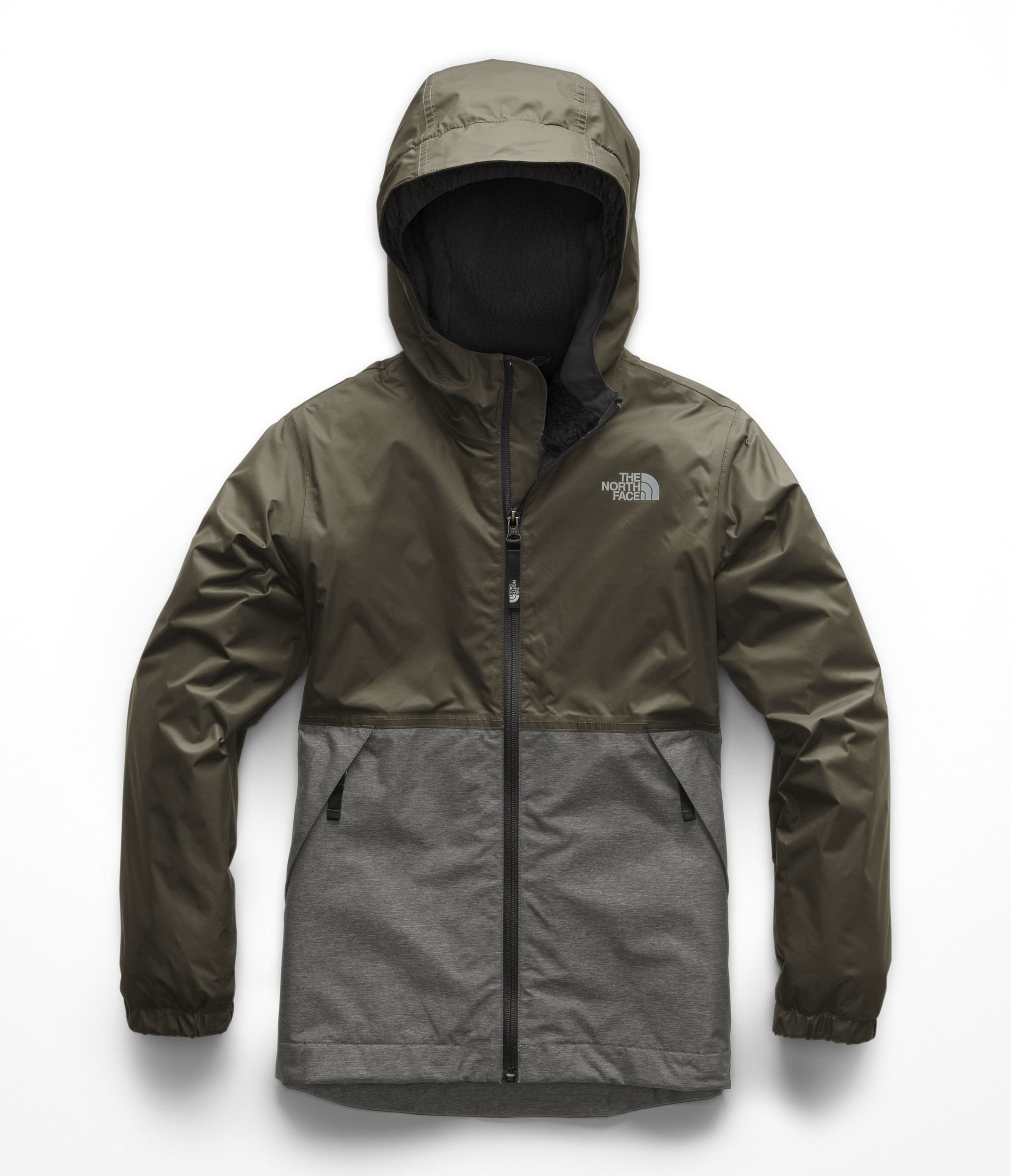 The North Face Kids Boy's Warm Storm Jacket (Little Kids/Big Kids) New Taupe Green Small