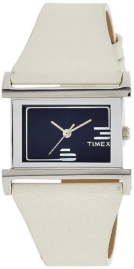 Timex mujeres de la moda analógica Dial reloj azul