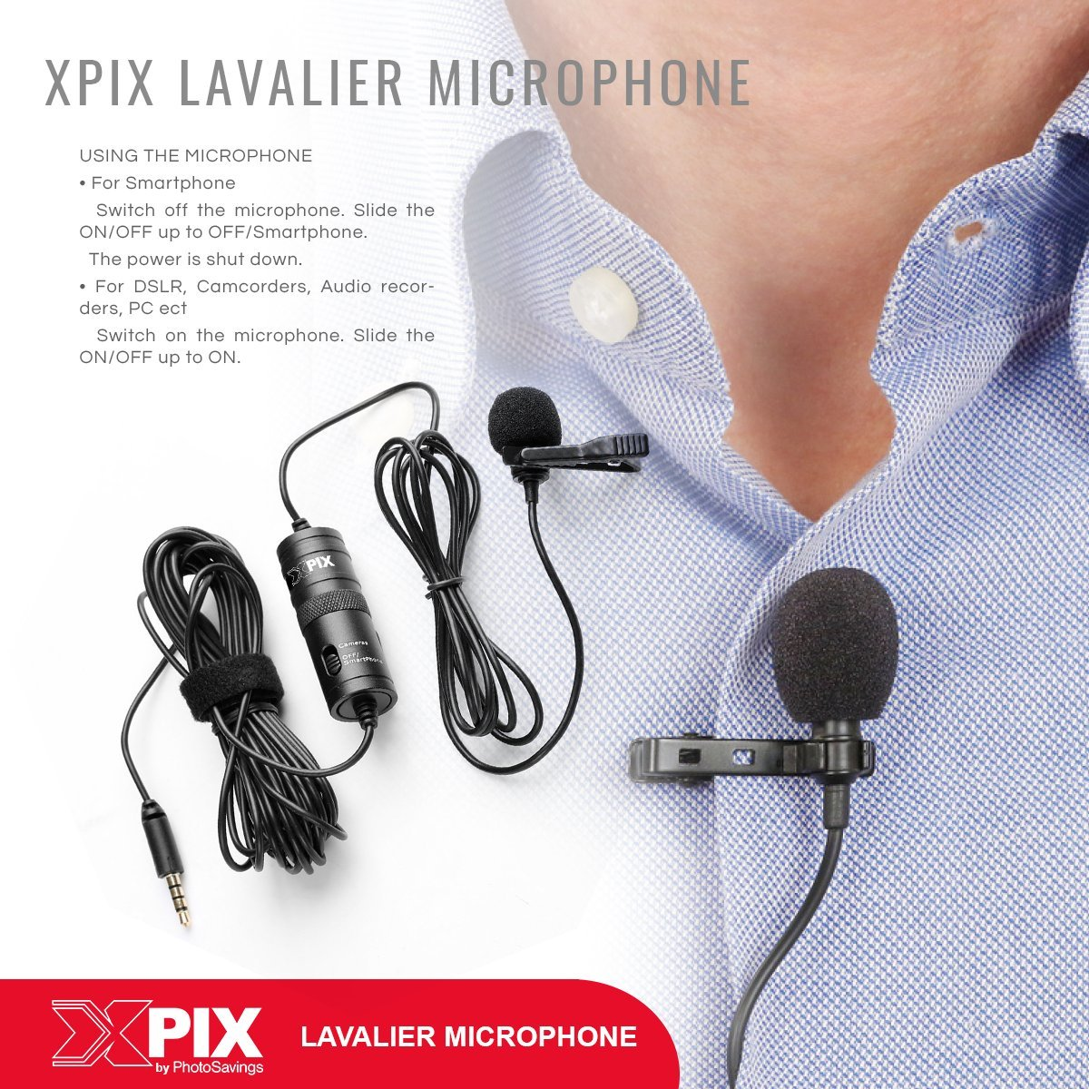Zoom H1n Handy Recorder with Lavalier Mic Accessory Pack by Photo Savings (Image #8)