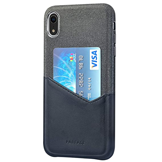 hot sale online 9e2f8 3225e Wallet Case for iPhone XR, Credit Card Case Soft Cloth Fabric Case with ID  Holder Slot for Apple iPhone XR 6.1 inch (Black)