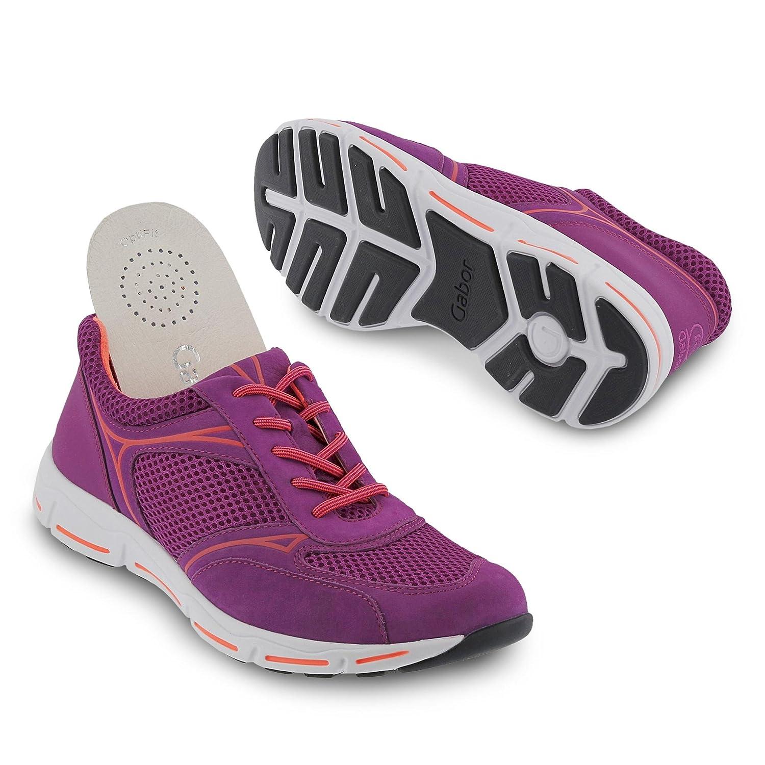 Gabor Comfort Damenschuhe 46.375 Sneaker Damen Schnürhalbschuhe Sneaker 46.375 Violetta/Orange 034882