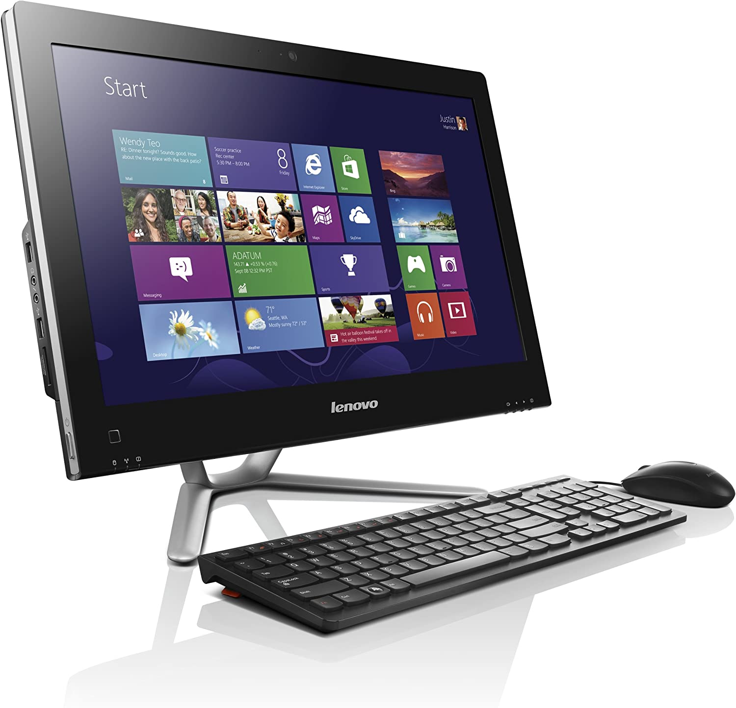 Lenovo IdeaCentre C355 57318980 20-Inch All-in-One Desktop (Black) (Discontinued by Manufacturer)