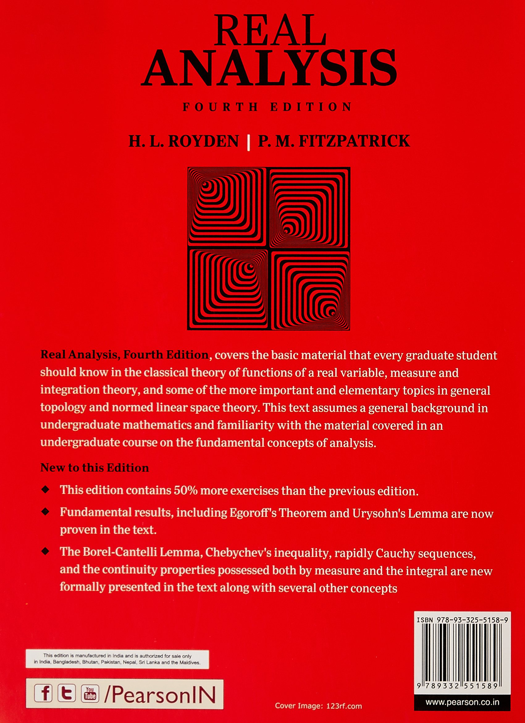 Buy Real Analysis Book Online at Low Prices in India | Real
