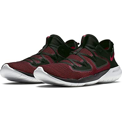 meet 355e7 d3164 Nike Men s Flex RN 2019 Running Shoe Black University Red Pure Platinum Size  7.5
