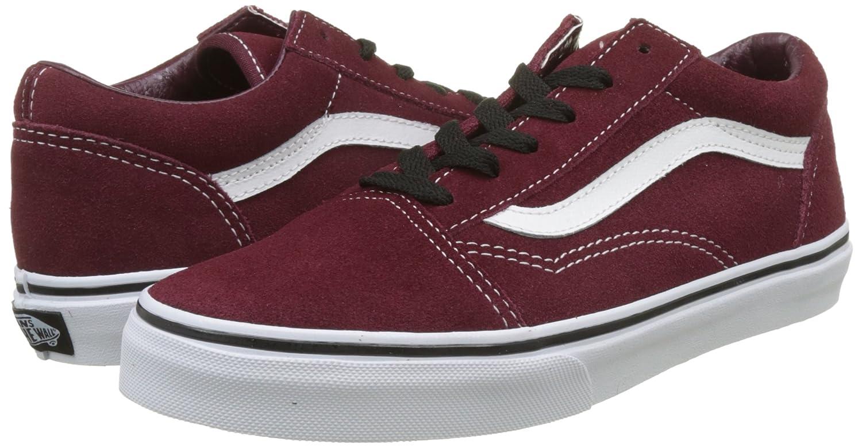 Vans Unisex-Kinder Old Skool Suede Sneaker, Dress Bleu/True Blanc Royale/schwarz) Rot (Suede/ Port Royale/schwarz) Blanc 24a288