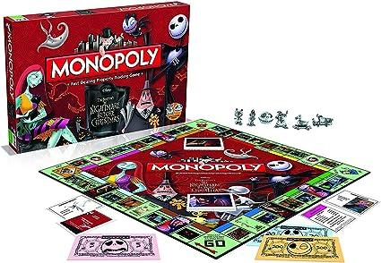 Monopolio de la Pesadilla Antes de Navidad: Amazon.es: Juguetes y juegos