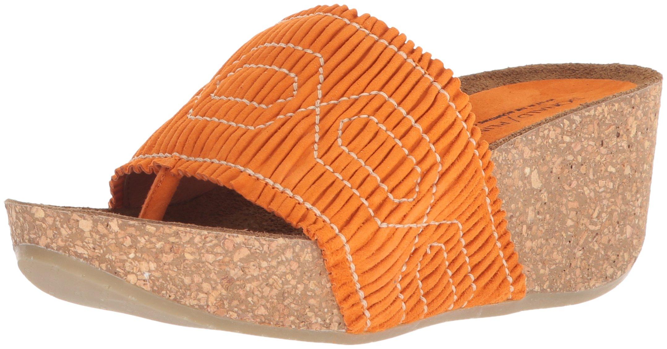 Donald J Pliner Women's GESS Slide Sandal, Mango, 6.5 Medium US