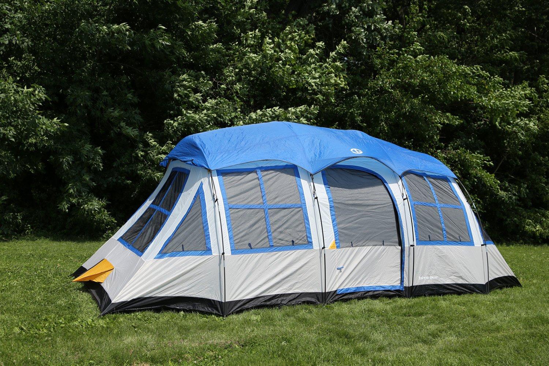 Amazon.com  Tahoe Gear Prescott 12-Person 3-Season Tent Blue/White   TGT-PRESCOTT-12-B  Sports u0026 Outdoors & Amazon.com : Tahoe Gear Prescott 12-Person 3-Season Tent Blue ...